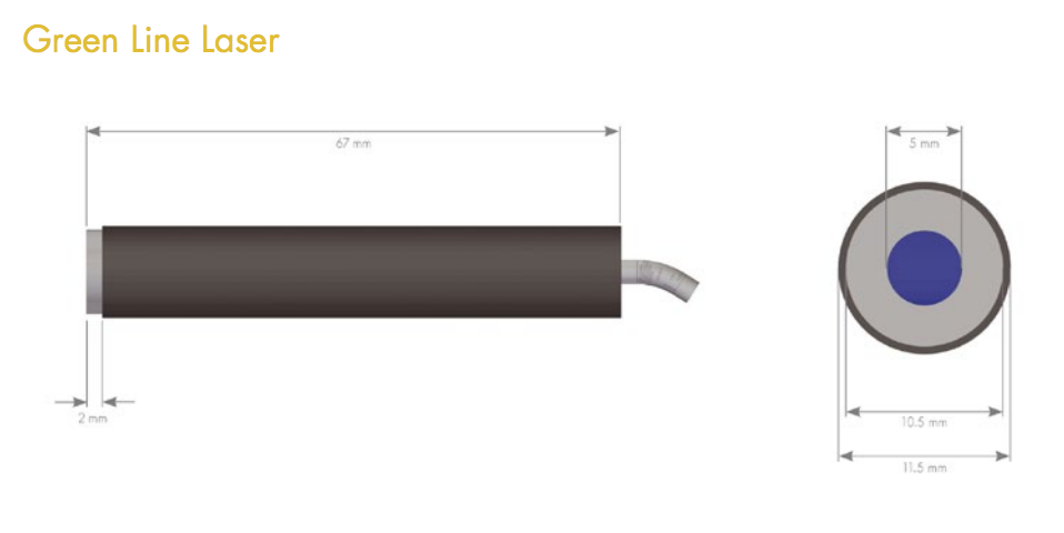532nm line laser module