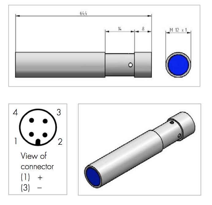 M12 laser pointer module